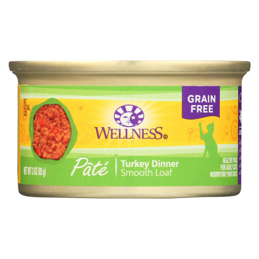 Wellness Pet Products Cat Food - Turkey Recipe - Case Of 24 - 3 Oz.
