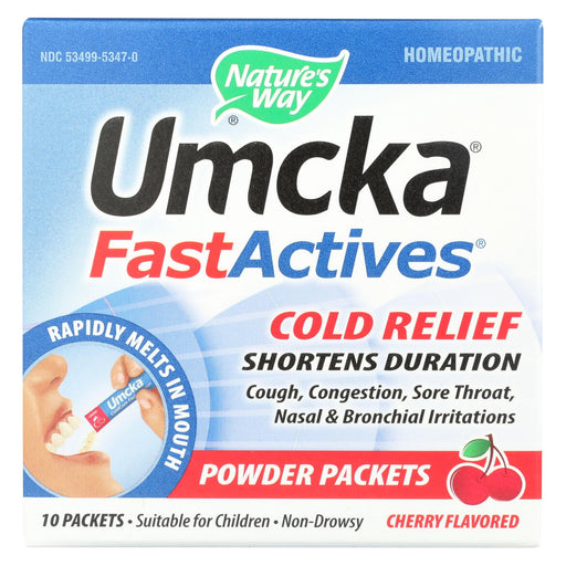 Nature's Way Umcka Fast Act Cold - Cherry - 10 Count