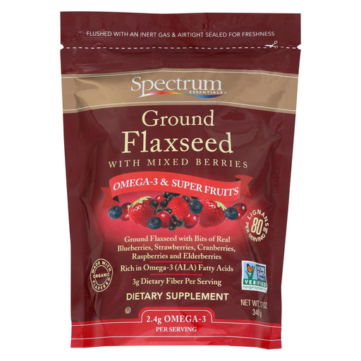 Spectrum Essentials Ground Flax With Mixed Berries - 12 Oz