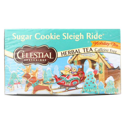 Celestial Seasonings Sugar Cookie Sleigh Ride Holiday Herbal Tea - Case Of 6 - 20 Bag