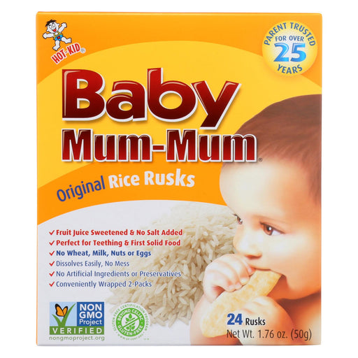 Hot Kid Baby Mum Rice Biscuit - Case Of 6 - 1.76 Oz.