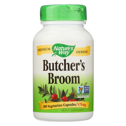 Nature's Way Butchers Broom Root - 100 Capsules