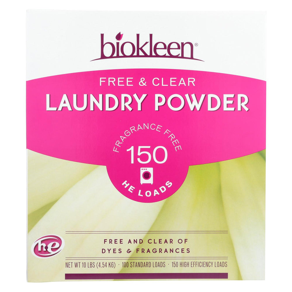 Biokleen Laundry Powder - Free And Clear - 10 Lb