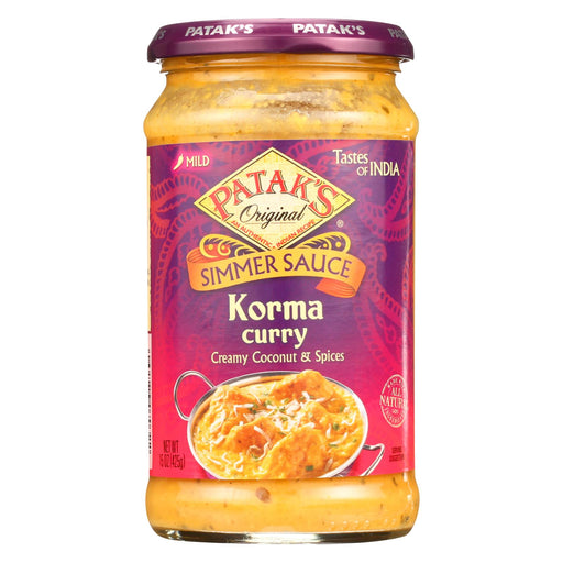 Pataks Simmer Sauce - Korma Curry - Mild - 15 Oz - Case Of 6