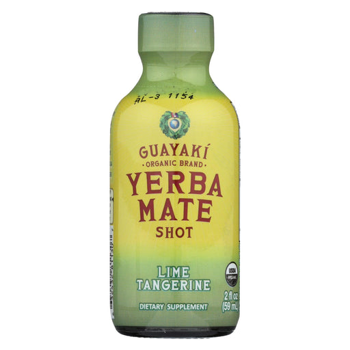 Guayaki Organic Yerba Mate Energy Shot - Lime Tangerine - 2 Oz - Case Of 12