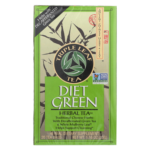Triple Leaf Tea Dieters Decaffeinated Green Tea - 20 Tea Bags - Case Of 6