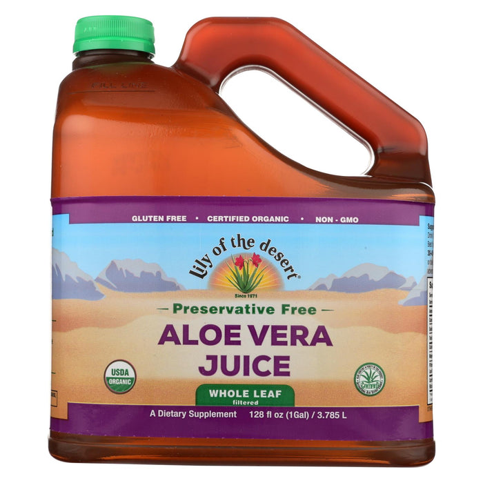 Lily Of The Desert Aloe Vera Gel - Whole Leaf - Filtered - 1 Gal