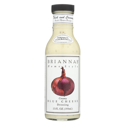 Brianna's Salad Dressing - Creamy Blue Cheese - Case Of 6 - 12 Fl Oz.