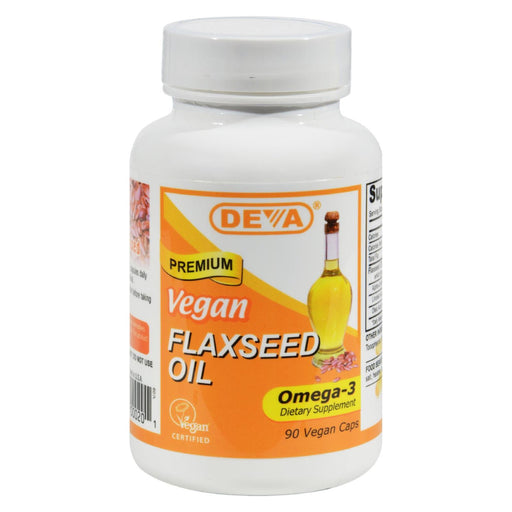 Deva Vegan Flaxseed Oil - 90 Vcaps