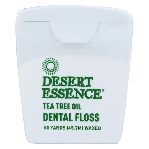 Desert Essence Dental Floss Tea Tree Oil - 50 Yds - Case Of 6