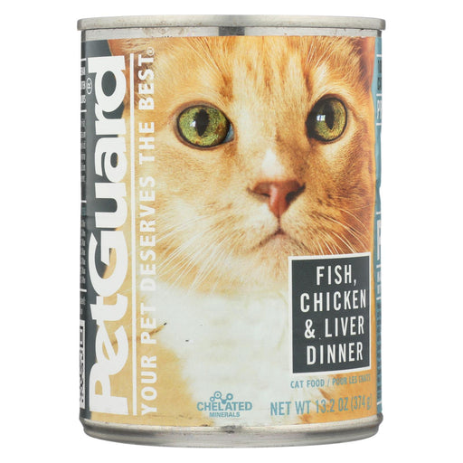 Petguard Cats Food - Fish, Chicken And Liver - Case Of 12 - 13.2 Oz.