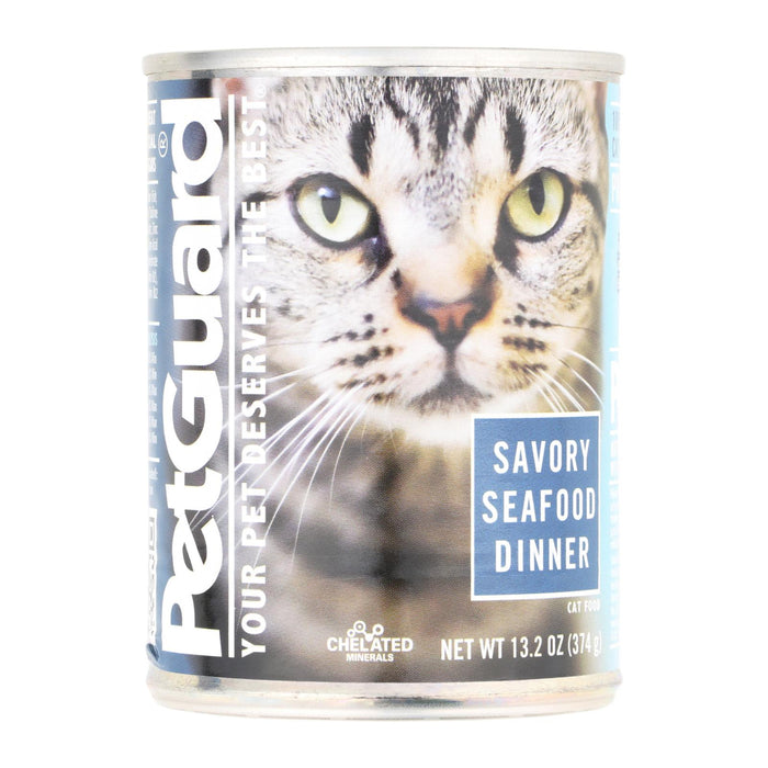 Petguard Cats Food - Savory Seafood Dinner - Case Of 12 - 13.2 Oz.