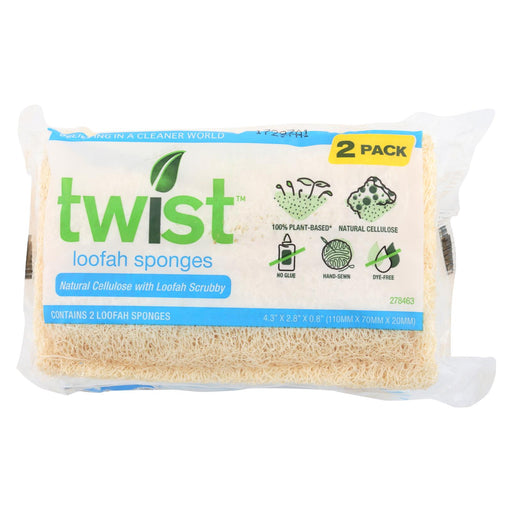 Twist Sponges - Loofah - Case Of 12 - 2 Oz.