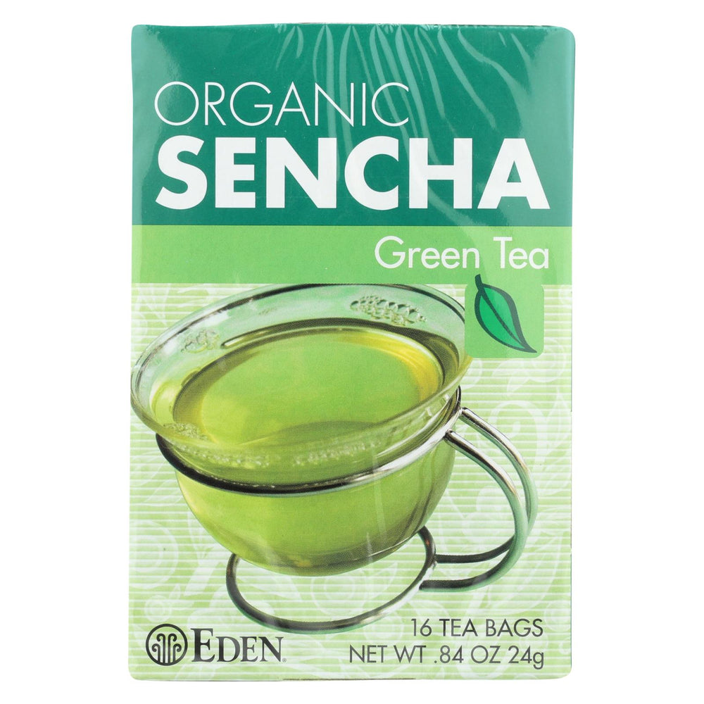Eden Foods Organic Sencha Green Tea - Case Of 12 - 16 Bag