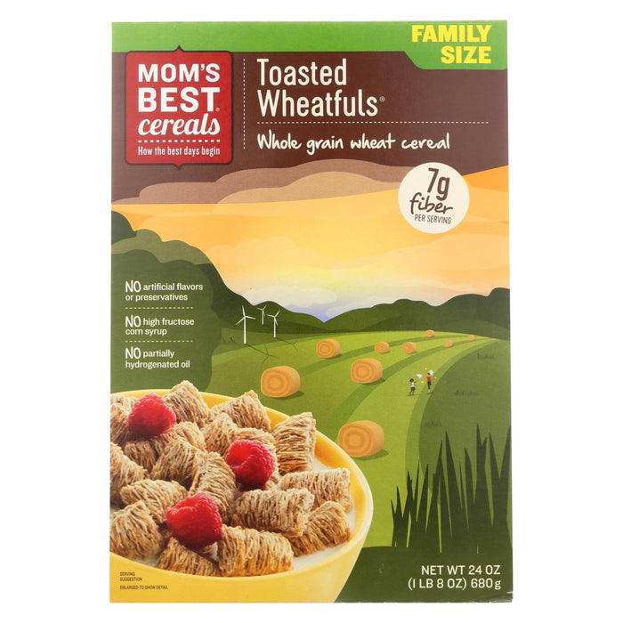 Mom's Best Naturals Wheat-fuls - Toasted - Case Of 12 - 24 Oz.