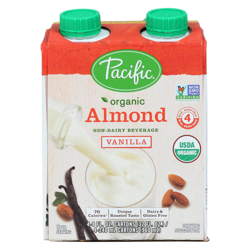 Pacific Natural Foods Almond Vanilla - Roasted - Case Of 6 - 8 Fl Oz.