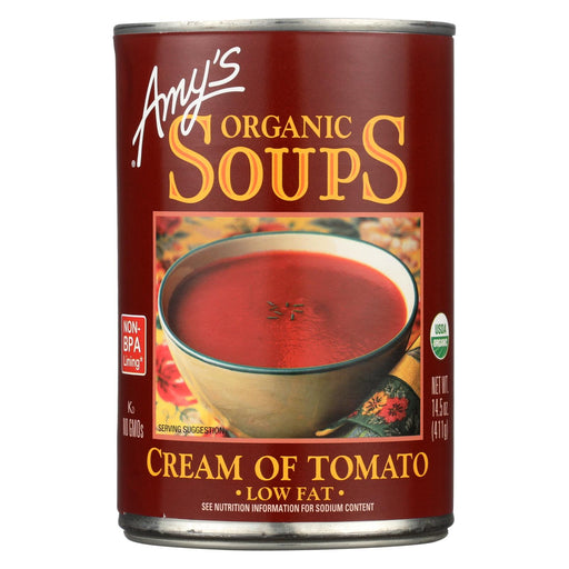 Amy's Organic Low Fat Cream Of Tomato Soup - Case Of 12 - 14.5 Oz