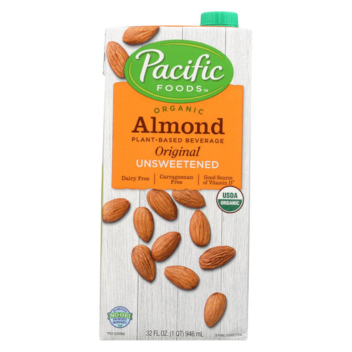 Pacific Natural Foods Almond Original - Unsweetened - Case Of 12 - 32 Fl Oz.