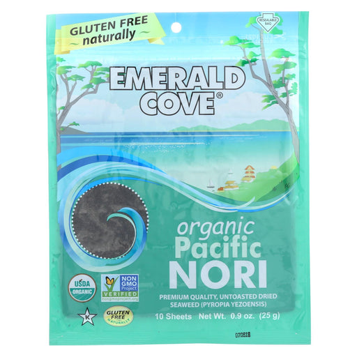 Emerald Cove Organic Pacific Nori - Untoasted Hoshi - Silver Grade - .9 Oz - Case Of 6