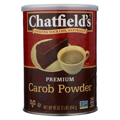 Chatfield's Carob Powder - No Chocolate - Cocoa Or Caffeine - Case Of 12 - 16 Oz