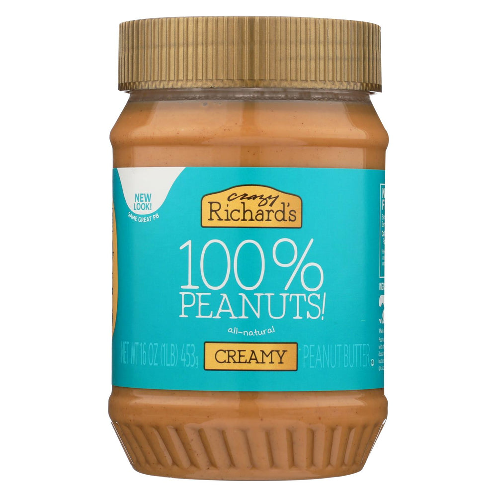 Crazy Richards Natural Creamy Peanut Butter - Case Of 12 - 16 Oz.