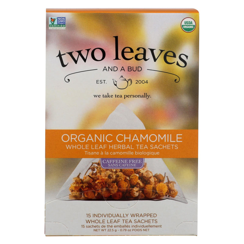 Two Leaves And A Bud Herbal Tea - Organic Chamomile - Case Of 6 - 15 Bags