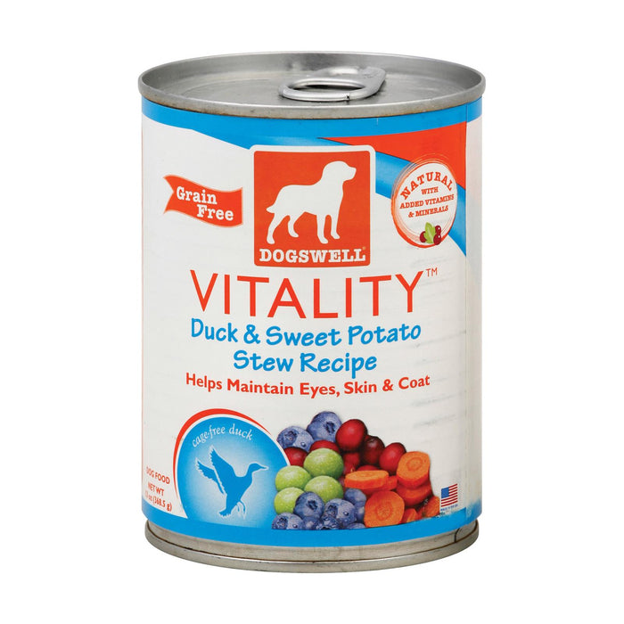 Dogs Well Vitality Duck And Sweet Potato Stew Dog Food - Case Of 12 - 13 Oz.