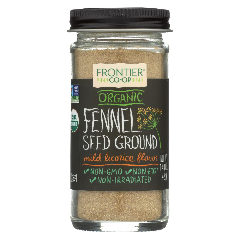 Frontier Herb Fennel Seed - Organic - Ground - 1.60 Oz