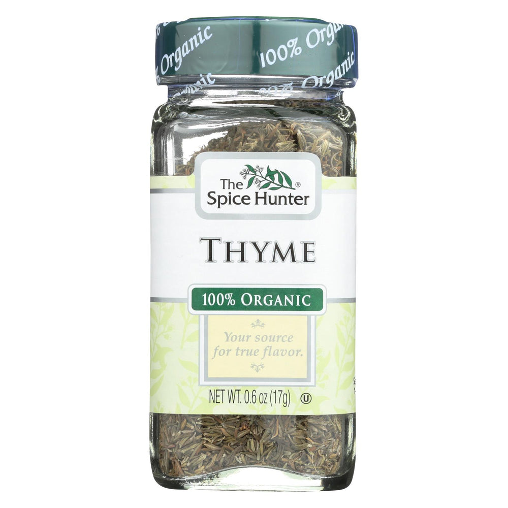 Spice Hunter 100% Organic Spice - Thyme - Case Of 6 - .6 Oz
