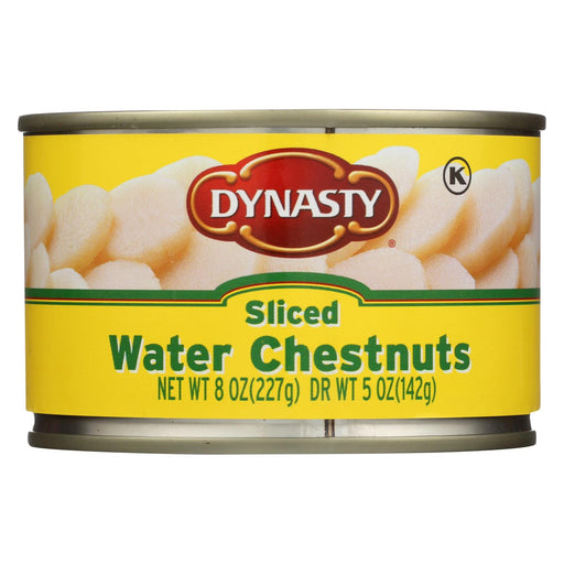 Dynasty Water Chestnuts - Sliced - Case Of 12 - 8 Oz.