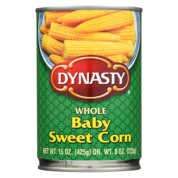 Dynasty Whole Baby Sweet Corn - Case Of 12 - 15 Oz.