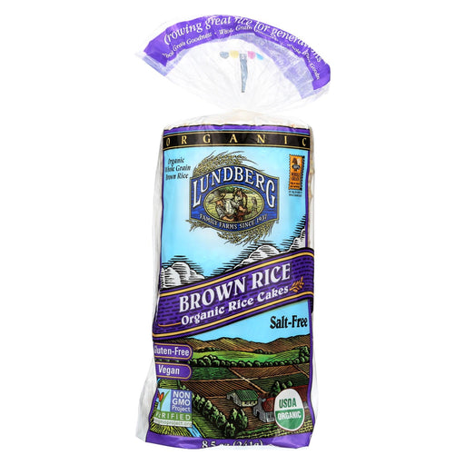 Lundberg Family Farms Brown Rice Cake - Unsalted - Case Of 12 - 8.5 Oz.