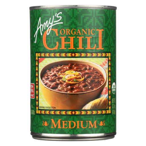 Amy's Organic Medium Chili - Case Of 12 - 14.7 Oz