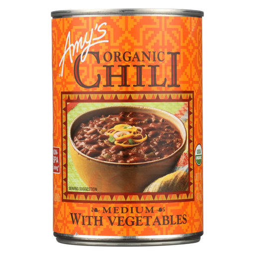 Amy's Organic Medium Chili With Veggies - Case Of 12 - 14.7 Oz
