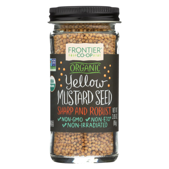 Frontier Herb Mustard Seed - Organic - Whole - Yellow - 3.05 Oz