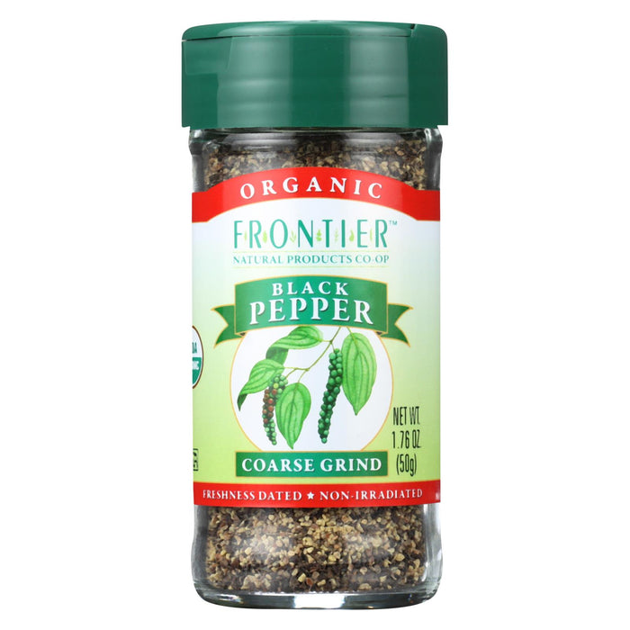 Frontier Herb Pepper - Organic - Black - Coarse Grind - 1.7 Oz