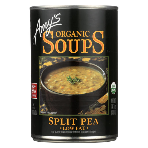 Amy's Organic Fat Free Split Pea Soup - Case Of 12 - 14.1 Oz