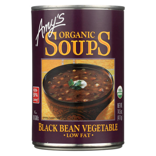 Amy's Organic Low Fat Black Bean Soup - Case Of 12 - 14.5 Oz