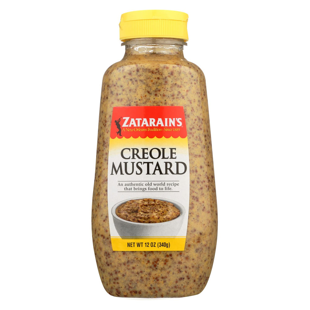 Zatarain's Creole Mustard - Squeeze Bottle - Case Of 12 - 12 Oz