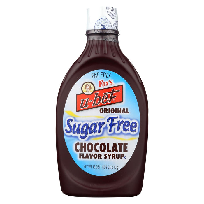 Fox's U - Bet Sugar Free Chocolate - Sugar Free - Case Of 12 - 18 Oz.