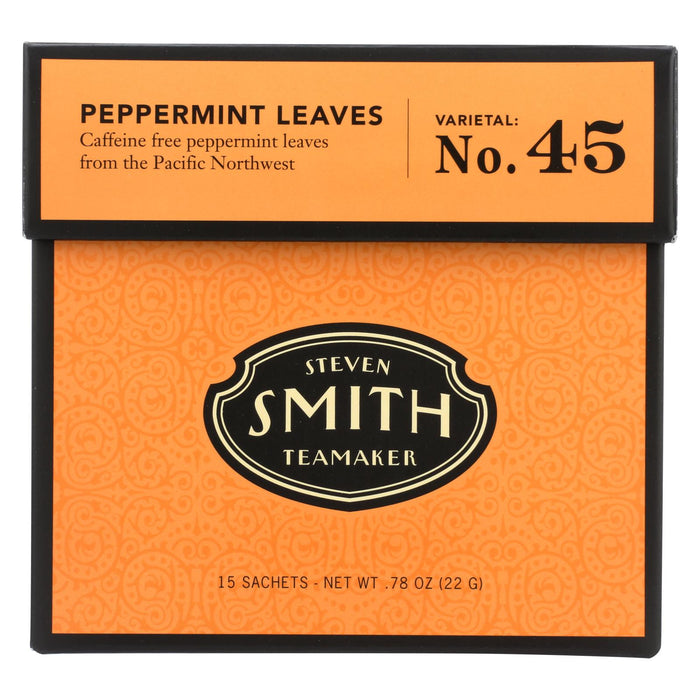 Smith Teamaker Herbal Tea - Peppermint - Case Of 6 - 15 Bags