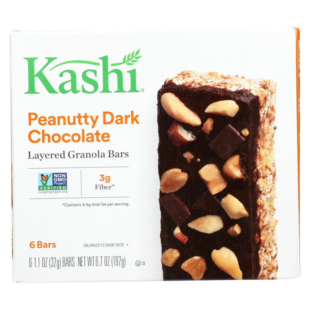 Kashi Layered Granola Bars Peanutty Dark Chocolate - Case Of 12 - 6.7 Oz.