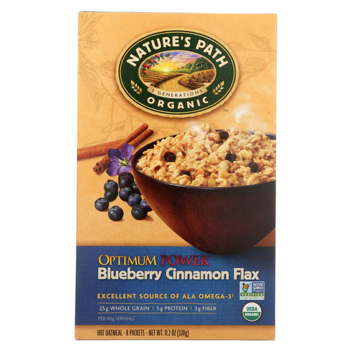 Nature's Path Organic Optimum Power Flax Cereal - Blueberry Cinnamon - Case Of 6 - 11.2 Oz.