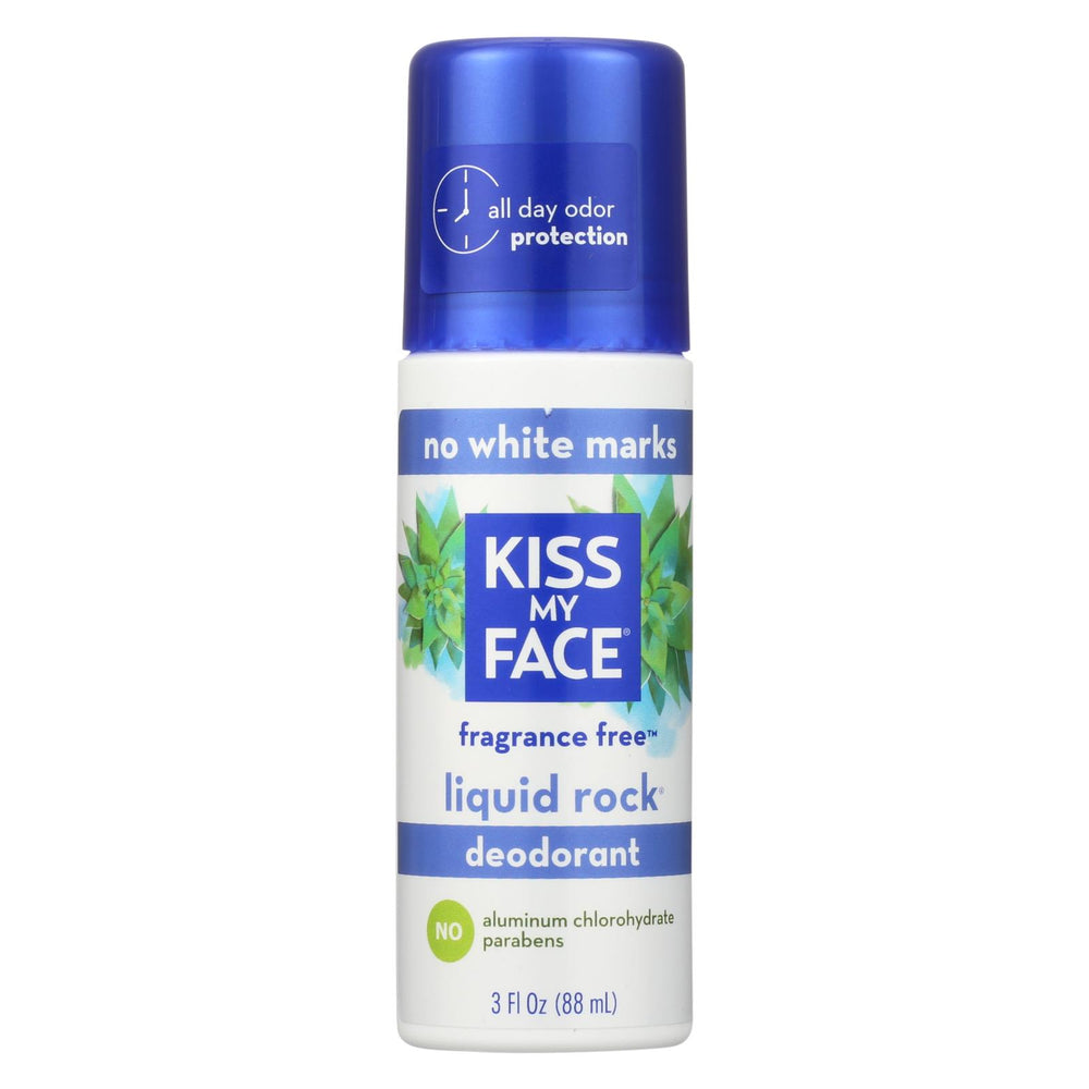 Kiss My Face Deodorant Liquid Rock Roll-on Fragrance Free - 3 Fl Oz