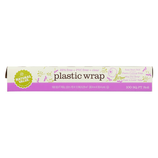 Natural Value Clear Plastic Wrap - Case Of 24