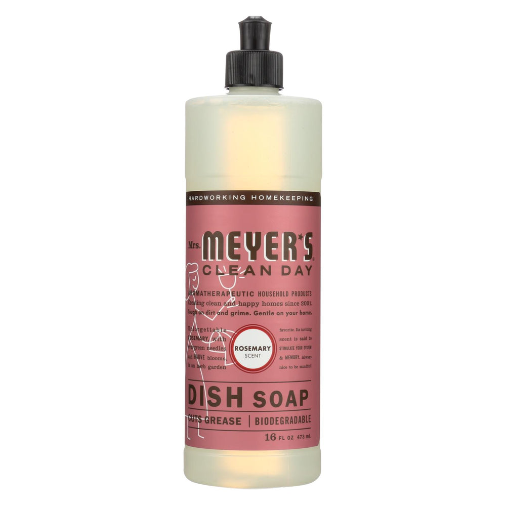 Mrs. Meyer's Clean Day - Liquid Dish Soap - Rosemary - Case Of 6 - 16 Oz