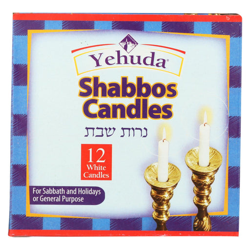 Yehuda Matzo Sabbath Candles - Case Of 24 - 12 Count