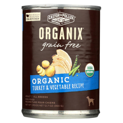 Castor And Pollux Organic Grain Free Dog Food - Turkey And Vegetables - Case Of 12 - 12.7 Oz.