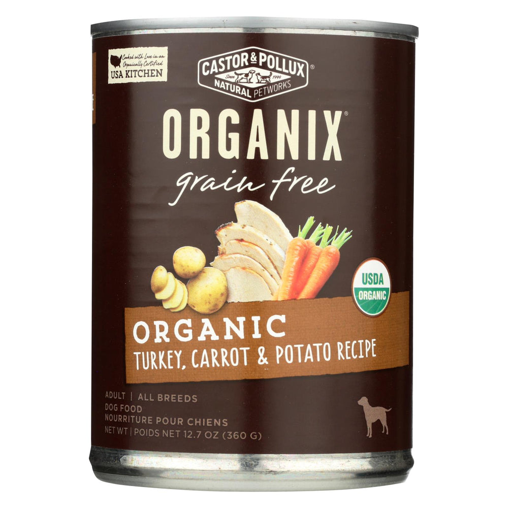 Castor And Pollux Organic Grain Free Dog Food - Turkey And Carrot And Potato - Case Of 12 - 12.7 Oz.