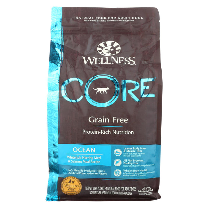 Wellness Pet Products Dog Food - Ocean Formula - Case Of 6 - 4 Lb.